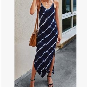 NWT Spaghetti Strap Dress with Racerback and Slit